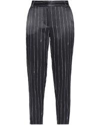 DKNY - Pinstriped Satin Skinny Trousers - Lyst
