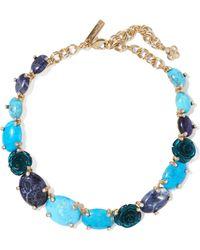 Oscar de la Renta | Gold-tone Multi-stone Necklace | Lyst