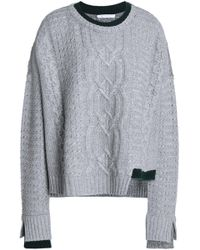 Duffy - Asymmetric Cable-knit Llama And Cashmere-blend Jumper - Lyst