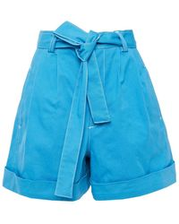 See By Chloé See By Chloé Belted Denim Shorts Light Blue