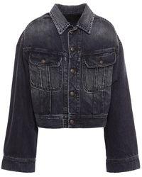 R13 Mia Faded Denim Jacket - Black