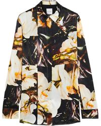 Paul Smith - Printed Silk-satin Shirt - Lyst
