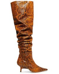 Rejina Pyo - Ashley Snake-effect Leather Over-the-knee Boots Animal Print - Lyst