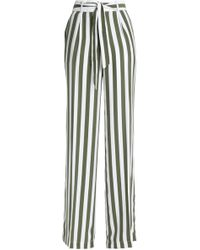 Equipment - Striped Washed-silk Wide-leg Trousers - Lyst