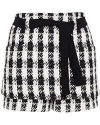 Maje Icky Layered Cotton-blend Tweed Shorts Black