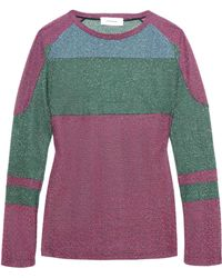 Carven - Metallic Knitted Jumper - Lyst
