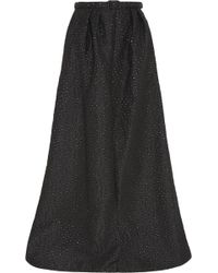 Jenny Packham - Embroidered Metallic Gabardine Maxi Skirt - Lyst