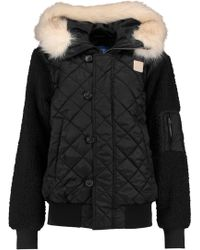 adidas Originals - Faux Fur-trimmed Quilted Shell Jacket - Lyst