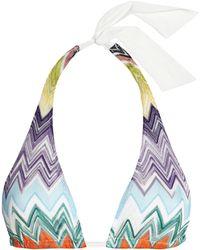 Missoni - Knitted Triangle Bikini Top - Lyst