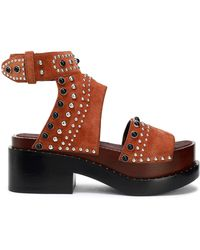3.1 Phillip Lim - Nashville Studded Suede Platform Sandals - Lyst