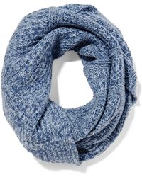 Duffy Wool-blend Snood Blue
