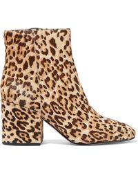 Sam Edelman - Taye Leopard-print Calf-hair Ankle Boots - Lyst