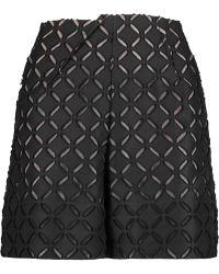 Roland Mouret - Kelston Fil Coupé Cotton And Silk-blend Shorts - Lyst