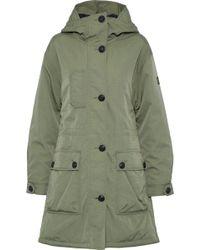 Belstaff - Twill Hooded Coat Sage Green - Lyst