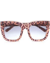 d67ce1b41f3a Stella McCartney - Woman Square-frame Leopard-print Acetate Sunglasses  Animal Print - Lyst
