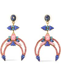 Elizabeth Cole - Gold-tone, Crystal And Stone Earrings - Lyst