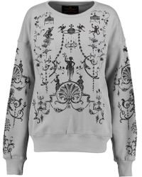 Vivienne Westwood Anglomania - Printed Cotton Sweatshirt - Lyst