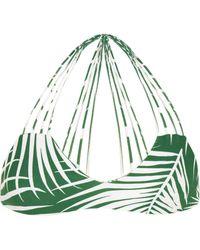 Mikoh Swimwear - Banyans Cutout Printed Bikini Top - Lyst