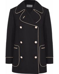 RED Valentino - Double-breasted Crepe Jacket - Lyst
