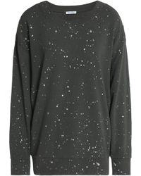 Splendid - Painted French Cotton-terry Sweatshirt - Lyst