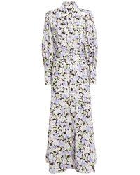Zimmermann Belted Floral-print Linen Maxi Shirt Dress Multicolour