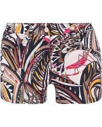 Emilio Pucci - Printed Denim Shorts - Lyst