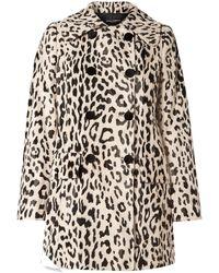 Dolce & Gabbana Double-breasted Leopard-print Faux Fur Coat Animal Print - Multicolour