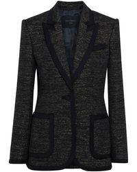 Equipment Bodanne Metallic Tweed Blazer - Black