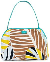 Emilio Pucci Leather-trimmed Printed Terry Shoulder Bag - Brown