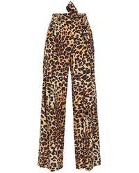 We Are Leone Luke Leopard-print Silk Crepe De Chine Wide-leg Trousers Animal Print - Multicolour
