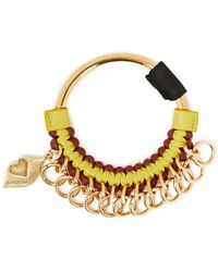 See By Chloé See By Chloé Braided Leather Keychain - Yellow