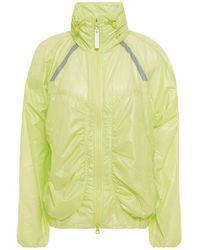 adidas By Stella McCartney Ruched Neon Shell Track Jacket - Yellow