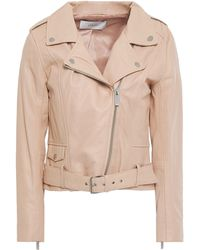 Stand Studio Daria Leather Biker Jacket Blush - Multicolour