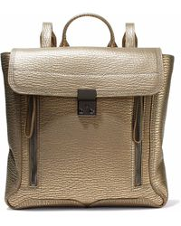 3.1 Phillip Lim - Pashli Metallic Textured-leather Backpack - Lyst