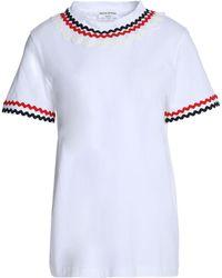 Sonia Rykiel   Rick Rack-trimmed Cotton-jersey T-shirt   Lyst