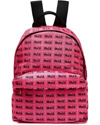 McQ Printed Shell Backpack Bright Pink
