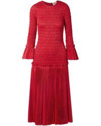 Khaite Mariella Shirred Pleated Cotton-poplin Midi Dress