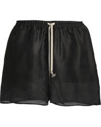 Rick Owens - Silk-organza Shorts - Lyst
