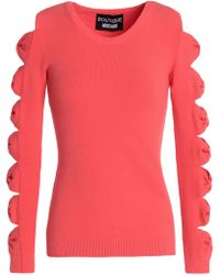 Boutique Moschino - Cutout Stretch-knit Jumper - Lyst