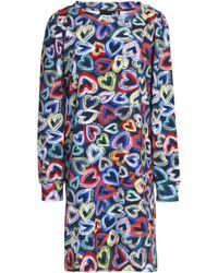 Love Moschino - Printed Cotton-blend Stretch-knit Dress - Lyst