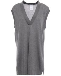 Wolford Glow Cotton And Silk-blend Top - Grey