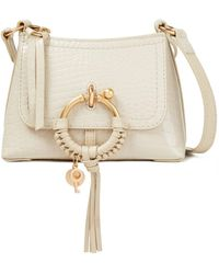See By Chloé See By Chloé Joan Croc-effect Leather Shoulder Bag - White
