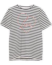 Chinti & Parker Printed Cotton-jersey T-shirt - White