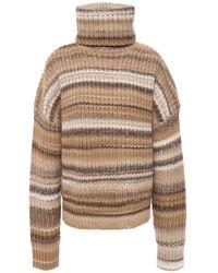 Altuzarra Kelley Striped Wool-blend Turtleneck Jumper - Natural