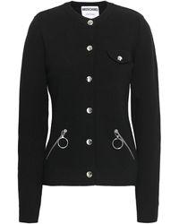 Moschino Wool Cardigan Black