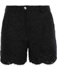 Versus Scalloped Corded Lace Short Black