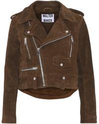 W118 by Walter Baker - Darrin Suede Biker Jacket - Lyst