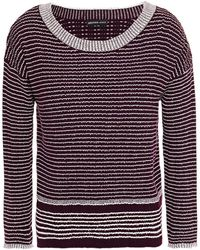 James Perse Striped Ribbed Wool-blend Jumper - Multicolour