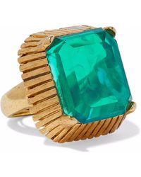 Elizabeth Cole - Wren 24-karat Gold-plated Stone Ring - Lyst