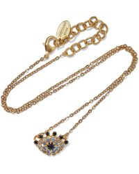 Elizabeth Cole Orbs 24-karat Gold-plated Swarovski Crystal Necklace Gold - Metallic